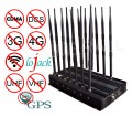 Adjustable 14 Antennas Powerful 3G 4G Phone Blocker& WiFi UHF VHF GPS Lojack All Bands Signal Jammer