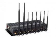 8 Powerful Antenna 3G/4G WiFi High Power Cellphone Jammer with Portable Aluminum Box