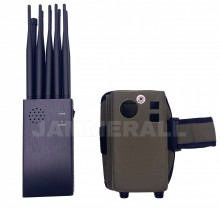 10 Antennas Plus Portable Mobile Phone Signal Jammer RC WiFi Selectable Blocker with Carry Case