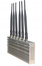 6 Antenna WI-Fi & GPS &Cell phone Jammer for World Wide Usage