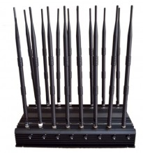 Universal Adjustable High Power 16 Antennas 3G 4G Phone Jammer &WiFi UHF VHF GPS Lojack All Bands Signal Blocker