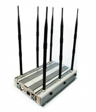 70W Adjustable Powerful 6 Bands Desktop WiFi GPS 3G Phone Jammer Up to 100 Meters