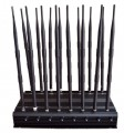 Front face of the Universal Adjustable High Power 16 Antennas 3G 4G Phone Jammer &WiFi UHF VHF GPS Lojack All Bands Signal Blocker
