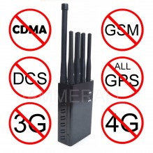 Selectable 8 Bands Portable All 3G 4G Mobile Phone & All GPS Signal Jammer