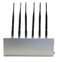 6 Antenna Mobile Phone Signal Blocker & WiFi Jammer