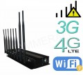 8 Antenna 3G 4G Mobile Phone Jammer & WiFi Bluetooth Signal Jammer