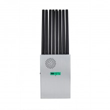The latest 18W handheld 18-band 5G mobile phone signal jammer shielding 2G 3G 4G 5G Wi-Fi GPS UHF VHF
