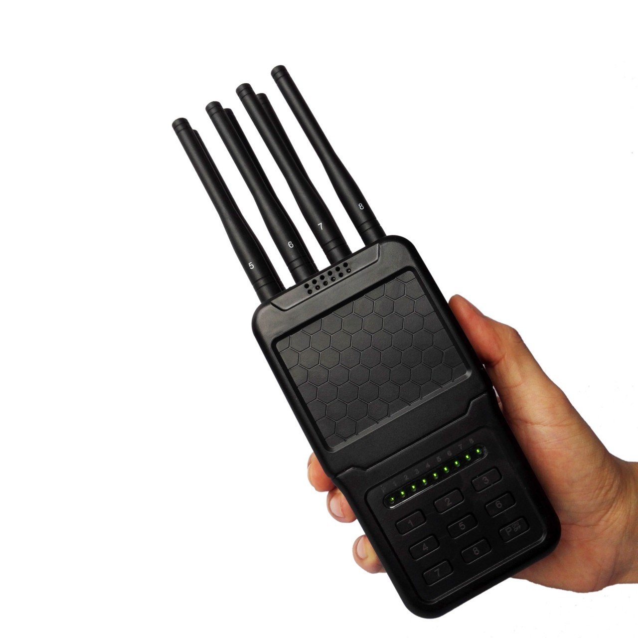 Carjammer - Handheld Selectable Newest 8 Antennas 4W Cell Phone 3G 4G Jammer WIFI GPS Jammer