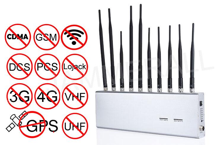All signal jammer | Black Shell Wifi Signal Jammer 33dBm Average Output Power Signal Synchronization System