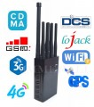 8 Bands Selectable Man-carried GSM 2G 3G 4G Cellphone Lojack WiFi & GPS Jammer ( European version)
