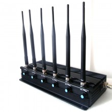 Adjustable 15W High Power 6 Antenna Cell Phone,WiFi,3G,UHF Jammer