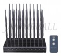 World First 20 Antennas 5G Mobile Phone Jammer WiFi GPS UHF VHF RF All-in-one Signal Blocker with Remote Control