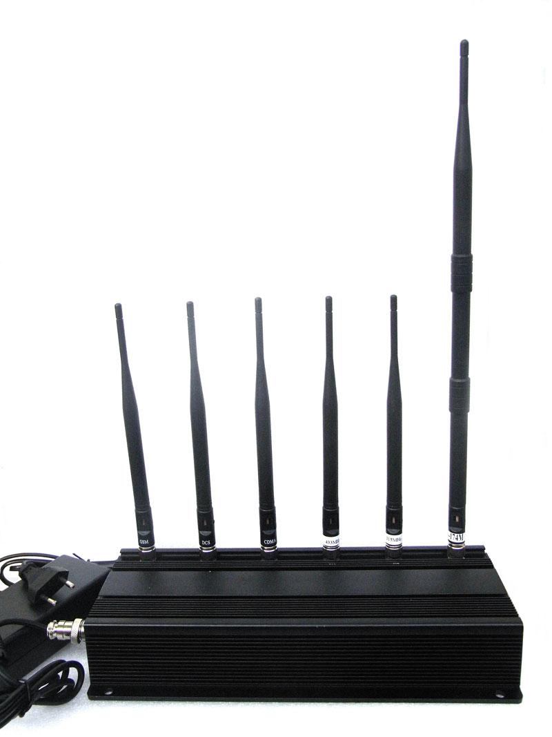 Cell phone blocker buy - 6 Antenna Cell phone & RF Jammer (315MHz/433MHz)