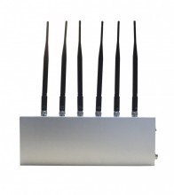 6 Band 3G Mobile Phone Blocker UHF,VHF signal jammer