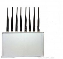 8 Band Desktop Mobile Phone 2G 3G 4G GPS WiFi Jammer