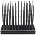 World First 22 Antennas Mobile Phone Jammer WiFi GPS UHF VHF RC All-in-one Signal Blocker with Remote Control