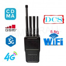 4W Powerful Selectable Portable 2G 3G 4G Phone Jammer and All WiFI Signals Jammer (2.4G,5.8G)