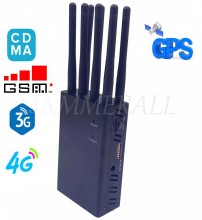 Man-carried 4W 2G 3G 4G CellPhone 8 bands Selectable GPS WiFi Jammer(USA Version)