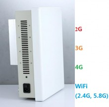 Directional Built-in Antenna Cell Phone Signal 2G/3G/4G + WiFi(2.4G, 5.8G) Jammer Desktop Blocker