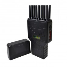 New Hidden Antennas Portable 16 Bands Selectable Cell Phone Signal Jammer Blocking 4G Wi-Fi(2.4G, 5G) GPS Lojack UHF VHF RC 315 433 868 Signal