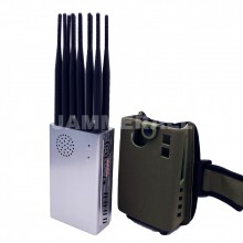 Portable 12 Antennas Jammer All Bands Cellphone 4G/3G/2G + WiFi(2.4G, 5.2G, 5.8G) + GPSL1L2L3L4L5 Blocker
