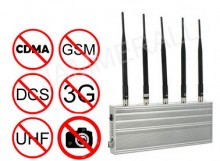 5 Band Mobile Phone Blocker & UHF Audio Jammer