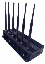 6 Bands Desktop Adjustable Cellular Mobile phone WiFi Jammer