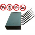 Adjustable High Power 6 Antenna WiFi & GPS & Cell Phone Jammer