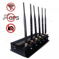 7W Powerful Tabletop Adjustable WiFi GPS Jammer & All Wireless Bug Camera Jammer