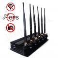 7W Powerful Tabletop Adjustable WiFi GPS Jammer & All Wireless Bug Camera Jammer