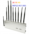 2G/3G/4G + WIFI(2.4G, 5.8G) Mobile Phone Jammer Desktop