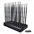 Ajustable 22 Antennas Full Bands 5G Cell Phone Jammer WiFi GPS LOJACK Walkie-Talkie UHF VHF Remote Control Desktop Blocker