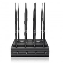 Adjustable 8 Antennas Jammer Block 2g, 3G, 4G, WiFi 2.4G,WIFI 5.8G,GPSL1
