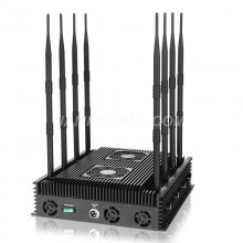 Adjustable 8 Antennas Jammer Block 2g, 3G, 4G, WiFi, GPSL1, Lojack Signal