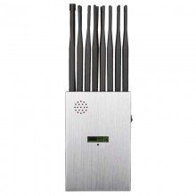 Portable LCD screen 16 band 5G mobile phone jammer WiFi GPS UHF VHF RC all-in-one signal blocker