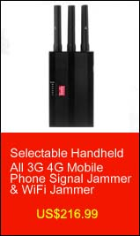 Selectable Handheld All 3G 4G Mobile Phone Signal Jammer & WiFi Jammer